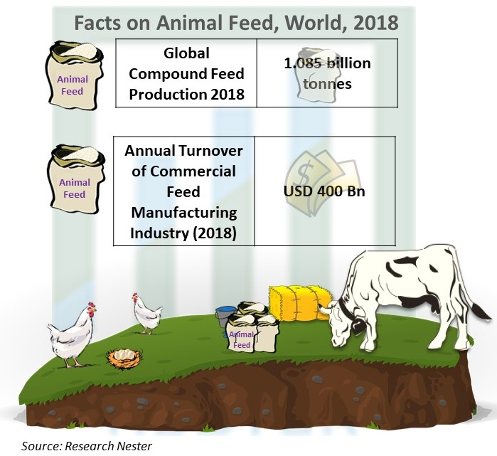 Facts on Animal Feed, World, 2018