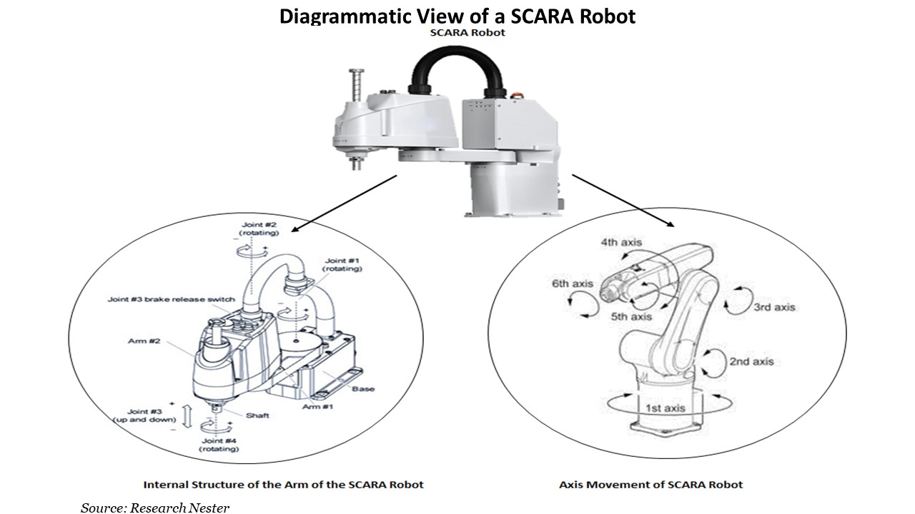 Diagrammatic View of a SCARA Robot