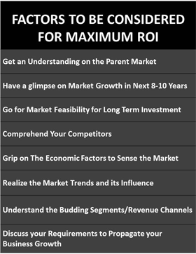 Factors to be Considered for maximum ROI